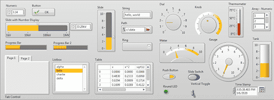 Interface LabVIEW